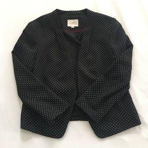 LOFT Polka Dot Black And White Blazer